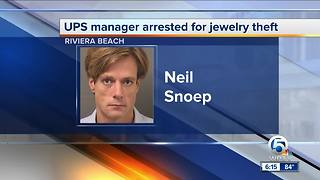 UPS manager charged with stealing jewelry in Riviera Beach