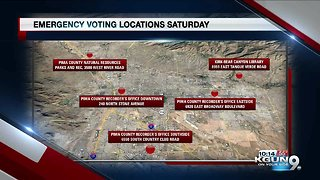 Emergency voting sites opening ahead of election