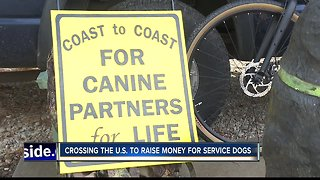 Man Raising Money for Service Dogs