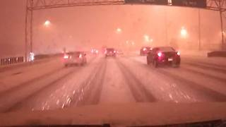 Stormtracker snowy roads - Video