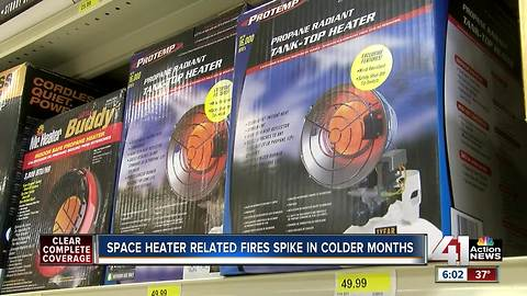 Fire department shares space heater safety reminders as temperatures get colder
