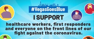 Vegas goes blue to say thanks