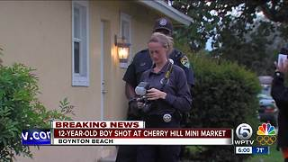 12-year old boy shot in Boynton Beach - Video