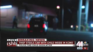 Car stolen with child inside, later found safe - Video