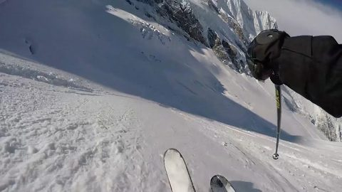 Skier cheats death after miraculously surviving 60ft fall into crevasse