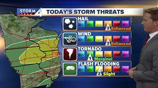 Warmer temps, severe weather possible - Video