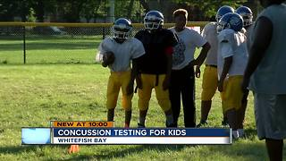 'Baseline concussion testing' gains popularity in youth sports - Video