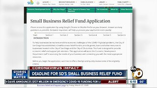 Last day for SD Small Business Relief Fund
