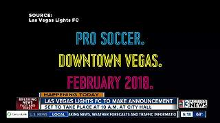 Las Vegas Lights FC to make announcement - Video