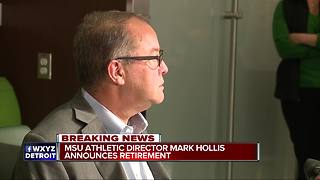 MSU Athletic Director Mark Hollis announces retirement - Video