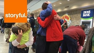 Tearful Moment Adoptive Family Reunites After Three-Year Wait - Video