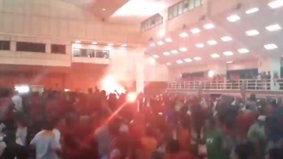 Brawl Erupts as Flare Set Off During Forum With Former Prime Minister - Video