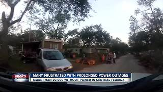 Power outages throughout the state of Florida after Hurricane Irma - Video