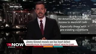 Jimmy Kimmel tearfully recounts newborn son's heart surgery - Video
