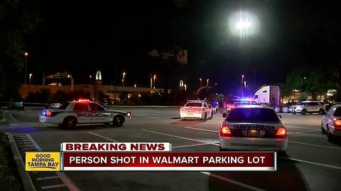 Police: Person shot in parking lot of Tampa Walmart