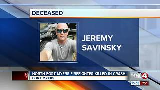 North Fort Myers Firefighter Killed in Crash - Video