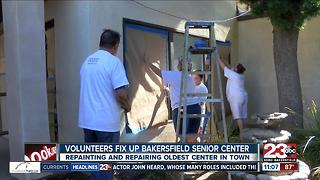 Community volunteers help clean up Bakersfield Senior Center - Video