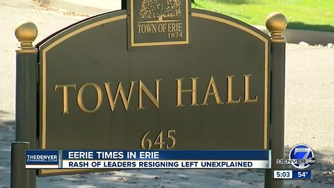 Is something eerie and strange happening inside Erie town hall?