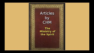 Articles of CHM The Ministry of the Spirit Audio Book