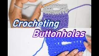 How to Crochet Buttonholes Into Your Projects 2 methods