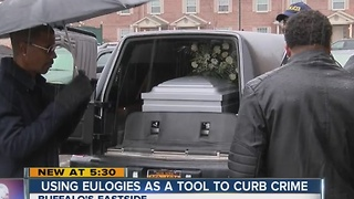 Pridgen using eulogies to curb crime - Video