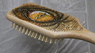 DIY: Reptile eye hair brush - Video
