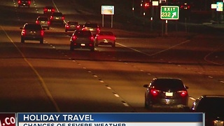 Chances for severe weather impacting Christmas Day travel - Video