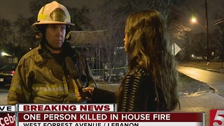 1 Killed In Lebanon House Fire - Video