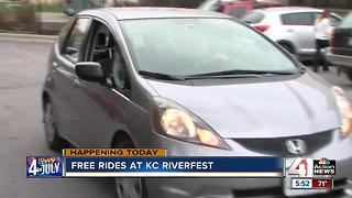 Law firm partners with Uber for safe rides from Riverfest on 4th of July - Video