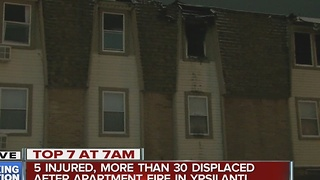 5 injured, more than 30 displaced after apartment fire in Ypsilanti - Video