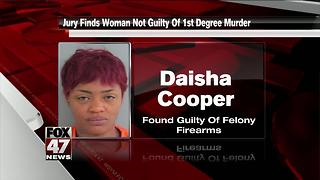 Jury finds woman not guilty of first-degree murder