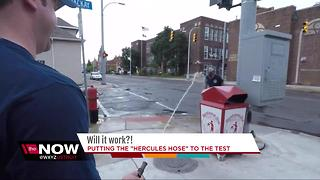 Will It Work? Hamtramck Firefighter Test Hercules Garden Hose - Video