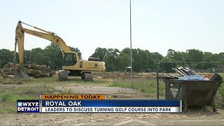 Leaders to discuss turning golf course into park in Royal Oak - Video