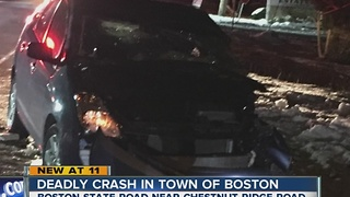 Deadly crash in the Town of Boston - Video