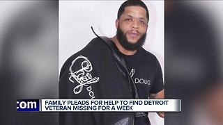 Family pleads for help to find Detroit veteran missing for a week - Video