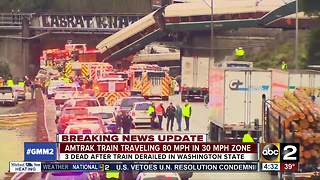Amtrak train speeding 50 mph over limit before deadly derailment - Video