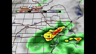 Cold front brings storms - Video