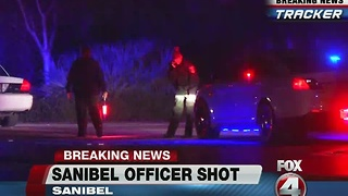Sanibel Officer shot and injured, suspect in custody -- 6am update - Video