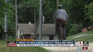 Impact of new curfew for Kansas City trails, parks - Video