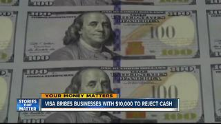 Visa offers restaurants $10,000 to stop taking cash - Video