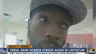 Serial bank robber strikes again in Linthicum - Video