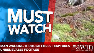 Man Walking Through Forest Captures Unbelievable Footage, As Ground Changes Before His Eyes - Video