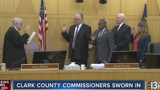 Clark County Commissioners sworn in - Video