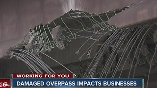 Business impact of damaged Rockville Road overpass - Video