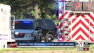 Crews searching for drowning victim at Lake Jacomo - Video