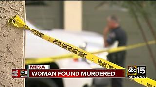 Woman murdered in Mesa condo - Video