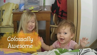 Mom Walks In On Daughters Laughing Hysterically - Video