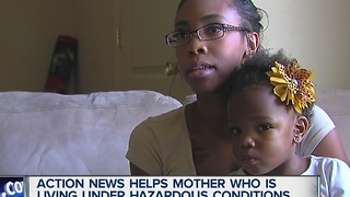 7 Action News helps mother living in hazardous conditions - Video