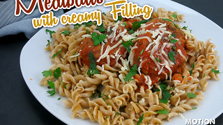 How to make meatballs with a creamy filling - Video
