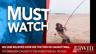 No One Would Have Believed 6-Year-Old's Catch But They Got It On Video As Proof - Video